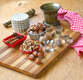 Baking ingredients and spices und Anis Stock Photo