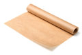 Baking parchment paper roll of isolated on white Royalty Free Stock Images