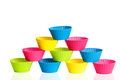 Baking silicone cups for cupcakes or muffins Royalty Free Stock Images