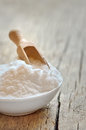 Baking soda close up of bicarbonate of Royalty Free Stock Images