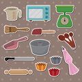 Baking stickers