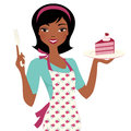 Baking Woman with cake