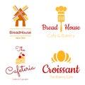 Bakkerij logo set Royalty-vrije Stock Afbeelding