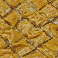 Baklava, delicious oriental desert Royalty Free Stock Photo