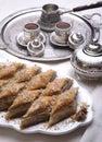 Baklava e turco da sobremesa de Ramadan Imagem de Stock Royalty Free
