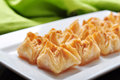 Baklava with honey and nuts traditional turkish arabic dessert Stock Photography