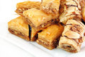 Baklava on White Stock Photography