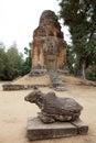Bakong temple ruins Royalty Free Stock Photo