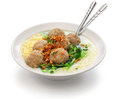 Bakso, indonesian meatball soup with noodles Royalty Free Stock Photo