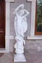 Baku azerbaijan june exterior of the villa petrolea nobel with classic statue and door Stock Photo