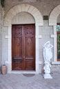 Baku azerbaijan june exterior of the villa petrolea nobel with classic statue and door Royalty Free Stock Photos