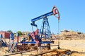 Baku azerbaijan may oil wells in Stock Photography