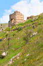 Balaclava Genoese fortress view (Crimea, Ukraine) Stock Photo