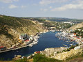Balaklava town and balaklava bay crimea ukraine Stock Image