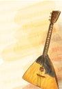 Balalaika - national Russian musical instrument. Royalty Free Stock Images
