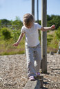 Balance beam Royalty Free Stock Photography