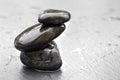 Balance of black stones Royalty Free Stock Photo