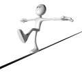 Balance cartoon guy balances d illustration Royalty Free Stock Image