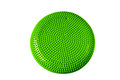 Balance cushion green for fitness and yoga gym equipment isolated on white background Stock Photography