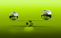 Balance d rendering of two spheres in Royalty Free Stock Image