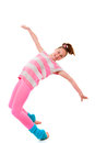 Balance girl dancer dancing balancing toes Royalty Free Stock Images