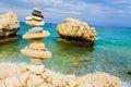 Balance at the Mediterranean shores Royalty Free Stock Photo
