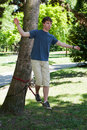 Balance on Slackline Stock Images