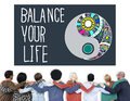 Balance your life stability work life concept Stock Photography
