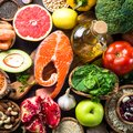 Balanced diet food background. Royalty Free Stock Photo