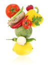 Balanced diet with fresh vegetables Royalty Free Stock Photo