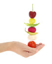 Balanced diet with fruits and vegetables Royalty Free Stock Photo