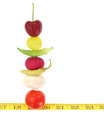 Balanced diet with fruits and vegetables Stock Image