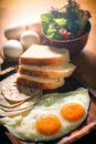 Balanced Nutrition Eggs Set Breakfast Royalty Free Stock Photo