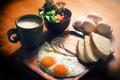 Balanced Nutrition Eggs Set Breakfast Royalty Free Stock Photo
