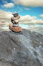 Balanced Rock Stack Stock Photo
