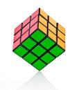 Balanced Rubik´s cube Royalty Free Stock Photo