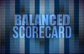 Balanced scorecard on digital screen, business Royalty Free Stock Photography