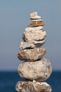 Balanced stack of pebbles Royalty Free Stock Photo