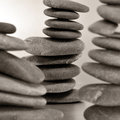 Balanced zen stones Stock Images