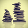 Balanced zen stones Royalty Free Stock Photos