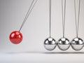 Balancing balls newton s cradle d render Stock Images