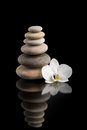 Balancing Zen Stones On Black ...