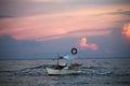 Balangay at sunset Royalty Free Stock Photo
