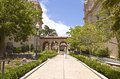 Balboa park architecture and garden california pathways san diego Stock Photo