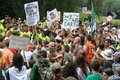 Balcombe fracking protests united kingdom august people gather to protest against the energy company cuadrilla in uk the company Royalty Free Stock Photo