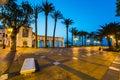 Balcon de Europa viewpoint in Nerja, Malaga,Spain Royalty Free Stock Photo