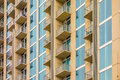 Balconies array  on an apartment building Royalty Free Stock Photo