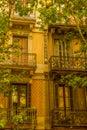 Balconies, Barcelona Royalty Free Stock Photo