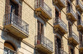 Balconies - Barcelona Royalty Free Stock Photo