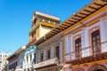 Balconies in Cuenca, Ecuador Royalty Free Stock Photo